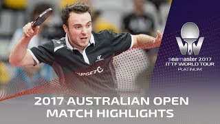 【Video】GAUZY Simon VS CHO Seungmin, 2017 Seamaster 2017 Platinum, Australian Open semifinal