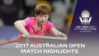 【Video】Zhu Yuling VS WANG Manyu, 2017 Seamaster 2017 Platinum, Australian Open semifinal