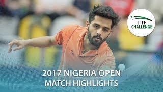 【Video】ABIODUN Bode VS SHETTY Sanil, 2017 ITTF Challenge, Nigeria Open quarter finals
