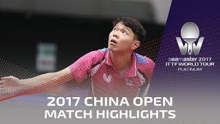 【Video】SUN Chia-Hung VS ASUKA Machi, 2017 Seamaster 2017 Platinum, China Open best 128