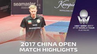 【Video】SHAMRUK Gleb VS YANG Heng-Wei, 2017 Seamaster 2017 Platinum, China Open best 128
