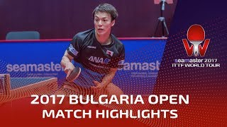 【Video】KENJI Matsudaira VS BUROV Viacheslav, 2017 Seamaster 2017  Asarel Bulgaria Open best 32