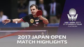 【Video】LIN Gaoyuan VS BOLL Timo, 2017 Seamaster 2017 Platinum, LION Japan Open best 32