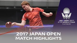 【Video】YUTO Muramatsu VS BUROV Viacheslav, 2017 Seamaster 2017 Platinum, LION Japan Open best 64