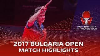 【Video】OVTCHAROV Dimitrij VS RANEFUR Elias, 2017 Seamaster 2017  Asarel Bulgaria Open best 16