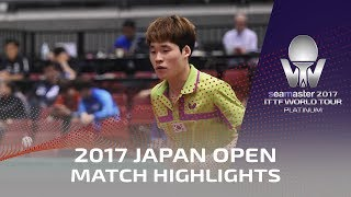 【Video】KAZUHIRO Yoshimura VS JANG Woojin, 2017 Seamaster 2017 Platinum, LION Japan Open best 64