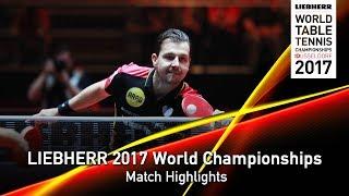 【Video】BOLL Timo VS MA Long, LIEBHERR 2017 World Table Tennis Championships quarter finals