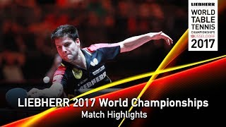 【Video】SZOCS Hunor VS OVTCHAROV Dimitrij, LIEBHERR 2017 World Table Tennis Championships best 32