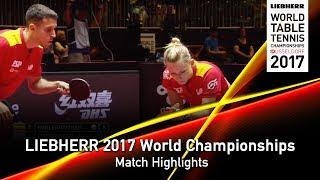 【Video】ROBLES Alvaro・DVORAK Galia VS CHEN Chien-An・CHENG I-Ching, LIEBHERR 2017 World Table Tennis Championships quarter finals