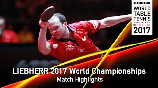 【Video】OVTCHAROV Dimitrij VS DRINKHALL Paul, LIEBHERR 2017 World Table Tennis Championships best 64