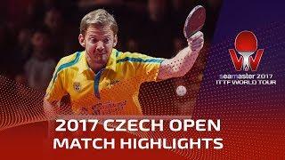 【Video】BOLL Timo VS GERELL Par, 2017 Seamaster 2017  Czech Open quarter finals