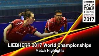 【Video】ROBLES Alvaro・DVORAK Galia VS ASSAR Omar・MESHREF Dina, LIEBHERR 2017 World Table Tennis Championships best 16