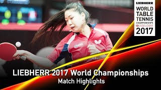 【Video】WINTER Sabine VS ZHANG Lily, LIEBHERR 2017 World Table Tennis Championships best 64