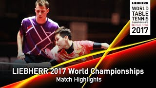 【Video】GROTH Jonathan・FENG Yalan VS CHOE Il・RI Mi Gyong, LIEBHERR 2017 World Table Tennis Championships best 32