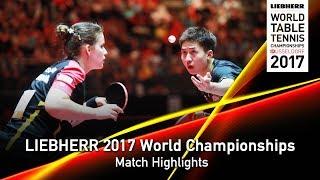 【Video】FANG Bo・SOLJA Petrissa VS CHODRI Kunal・ZHANG Lily, LIEBHERR 2017 World Table Tennis Championships best 64