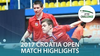 【Video】KONECNY Tomas・POLANSKY Tomas VS BRODD Viktor・NORDBERG Hampus, 2017 ITTF Challenge, Zagreb Open finals