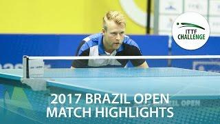 【Video】MATSUMOTO Cazuo VS FLORITZ Philipp, Seamaster 2017 ITTF Challenge, Seamaster Brazil Open best 16