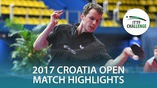 【Video】GROTH Jonathan VS GNANASEKARAN Sathiyan, 2017 ITTF Challenge, Zagreb Open best 16
