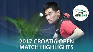 【Video】HABESOHN Daniel VS KOU Lei, 2017 ITTF Challenge, Zagreb Open best 32