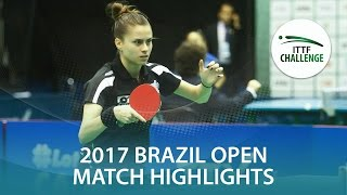 【Video】TAKAHASHI Bruna VS YANO Daniela, Seamaster 2017 ITTF Challenge, Seamaster Brazil Open