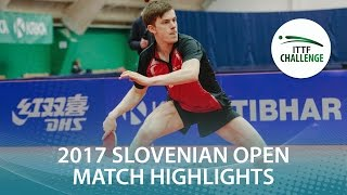 【Video】STEGER Bastian VS ORT Kilian, 2017 ITTF Challenge, Slovenia Open semifinal