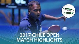 【Video】GHOSH Soumyajit VS ANTHONY Amalraj, Seamaster 2017 ITTF Challenge, Seamaster Chile Open finals