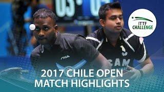 【Video】ANTHONY Amalraj・GHOSH Soumyajit VS FLORITZ Philipp・SZOCS Hunor, Seamaster 2017 ITTF Challenge, Seamaster Chile Open final