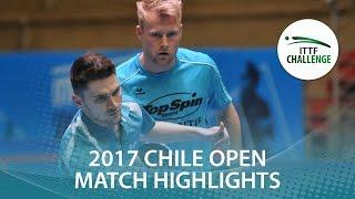 【Video】FLORITZ Philipp・SZOCS Hunor VS GOMEZ Gustavo・LAMADRID Juan, Seamaster 2017 ITTF Challenge, Seamaster Chile Open quarter f