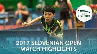 【Video】CHO Daeseong VS LUSHNIKOV Volodymyr 2017 ITTF Challenge, Slovenia Open