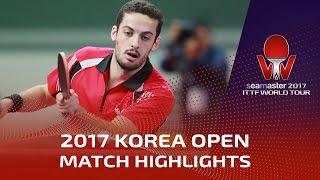 【Video】LIM Jonghoon VS FREITAS Marcos, 2017 Seamaster 2017  Korea Open quarter finals