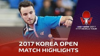 【Video】KARLSSON Kristian VS GAUZY Simon, 2017 Seamaster 2017  Korea Open best 16