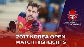 【Video】BOLL Timo VS GaoNing, 2017 Seamaster 2017  Korea Open best 16
