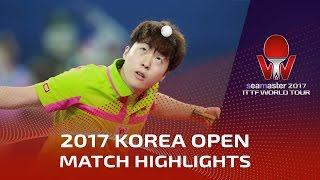 【Video】LIM Jonghoon VS YUTO Kizukuri, 2017 Seamaster 2017  Korea Open finals
