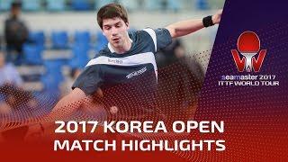 【Video】KIM Minhyeok VS FRANZISKA Patrick, 2017 Seamaster 2017  Korea Open best 32