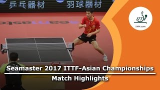 【Video】FAN Zhendong VS ZHANG Jike, 2017 ITTF-Asian Championships semifinal