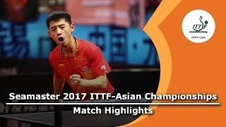 【Video】ZHANG Jike VS YUYA Oshima, 2017 ITTF-Asian Championships best 16