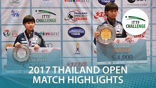【Video】HONOKA Hashimoto VS HITOMI Sato, 2017 ITTF Challenge, Thailand Open finals