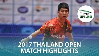 【Video】GaoNing VS KANG Dongsoo, 2017 ITTF Challenge, Thailand Open semifinal