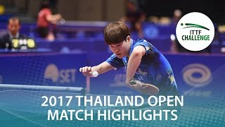 【Video】PARK Jeongwoo VS KENJI Matsudaira, 2017 ITTF Challenge, Thailand Open quarter finals