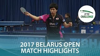 【Video】ZHUKOV Aleksei VS MASAKI Takami 2017 ITTF Challenge, Belgosstrakh Belarus Open