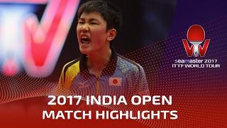 【Video】TOMOKAZU Harimoto VS ROBLES Alvaro, 2017 Seamaster 2017 India Open best 32