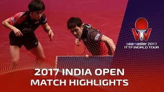 【Video】MASATAKA Morizono・YUYA Oshima VS ACHANTA Sharath Kamal・SHETTY Sanil, 2017 Seamaster 2017 India Open quarter finals
