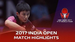 【Video】TOMOKAZU Harimoto VS LAM Siu Hang, 2017 Seamaster 2017 India Open semifinal