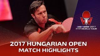 【Video】SHANG Kun VS SAMSONOV Vladimir, 2017 Seamaster 2017 Hungarian Open quarter finals