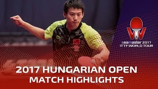 【Video】ZHOU Yu VS SHANG Kun, 2017 Seamaster 2017 Hungarian Open best 16