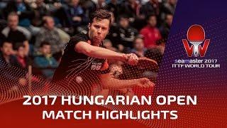 【Video】SAMSONOV Vladimir VS ROBINOT Quentin, 2017 Seamaster 2017 Hungarian Open best 32