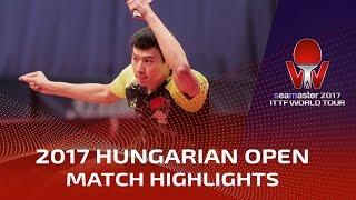 【Video】ZHOU Yu VS PITCHFORD Liam, 2017 Seamaster 2017 Hungarian Open best 32