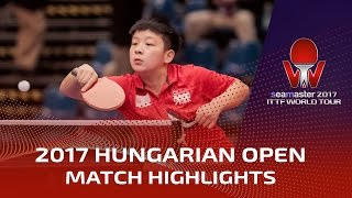 【Video】ZENG Jian VS LIN Ye, 2017 Seamaster 2017 Hungarian Open finals