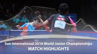 【Video】CHO Seungmin VS TOMOKAZU Harimoto, Sun International 2016 World Junior Table Tennis Championships finals