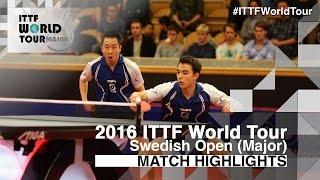 【Video】CALDERANO Hugo・TSUBOI Gustavo VS HACHARD Antoine・OUAICHE Stephane, 2016 Swedish Open  finals